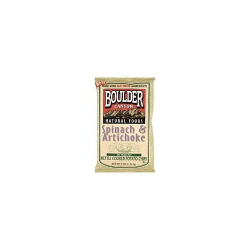 Boulder Canyon Spinach Artichoke Kettle Chip Gluten Free 5 Oz (Pack of 12) deal 2015