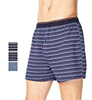 3 Pack Pure Cotton Assorted Marl Boxers