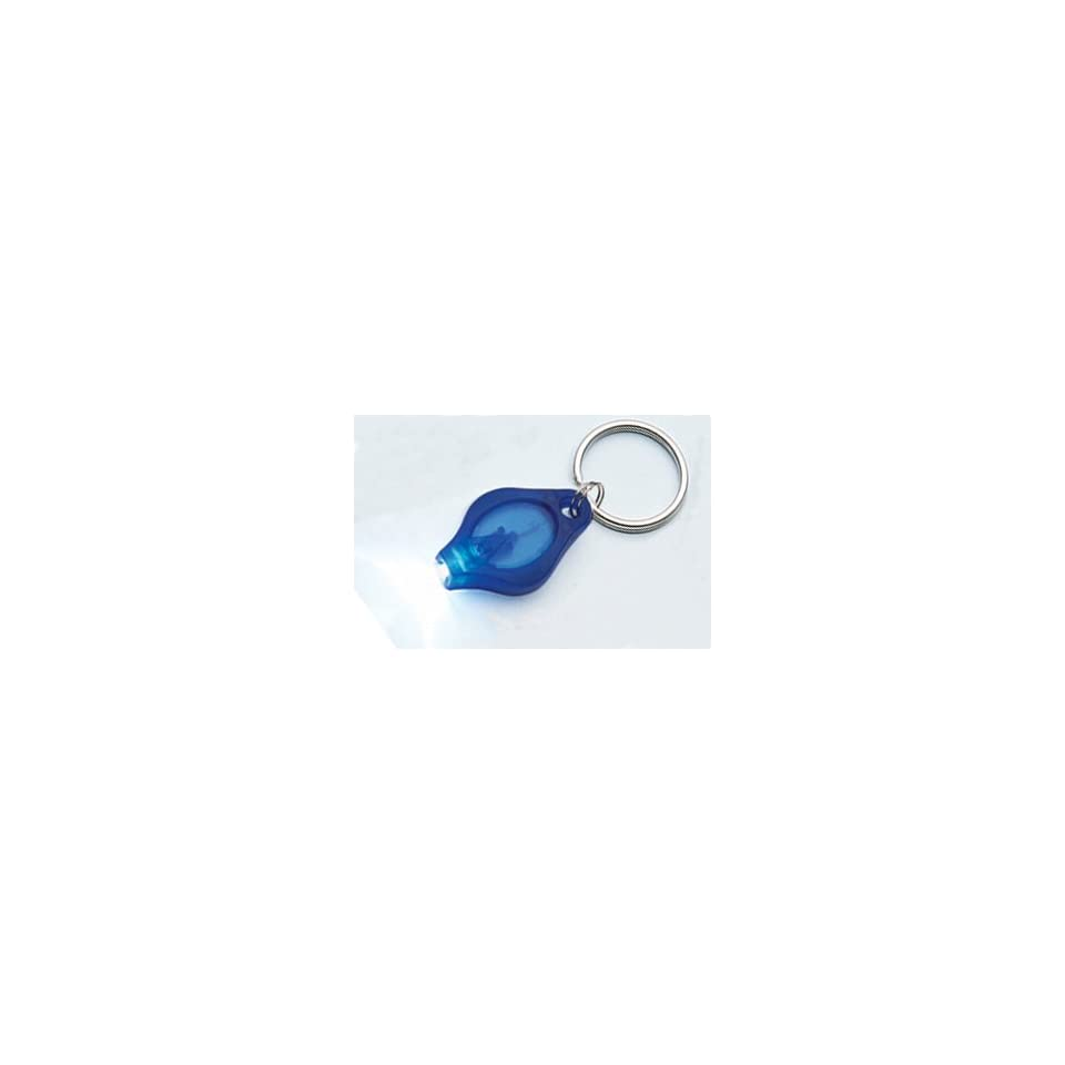 Cool LED Keychains Flashlight (Red, Green and Blue Light / Blue Body)