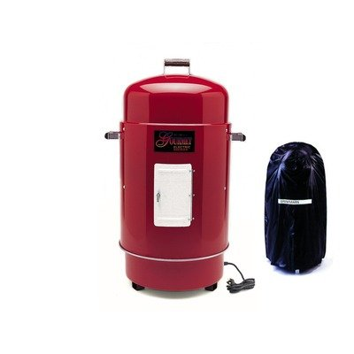Brinkmann 810-7080-8 Gourmet Electric Smoker and Grill with Vinyl Cover, Red