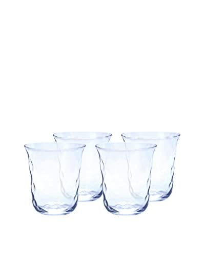 Padma Collection Set of 4 Optic 12.5-Oz. Double Old Fashioned Glasses, Clear