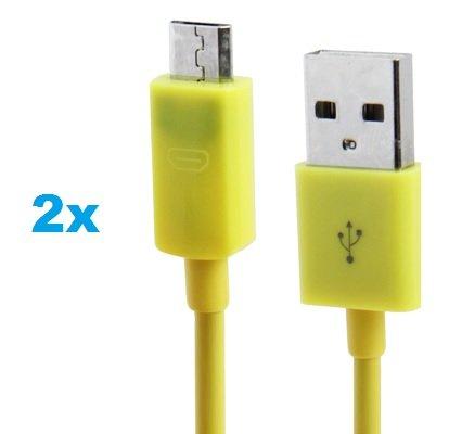 2 x Samsung Galaxy S3 Datenkabel / Ladekabel / S 3 / S3 Mini - Micro USB / Premium Kabel in gelb - 1 Meter - von THESMARTGUARD
