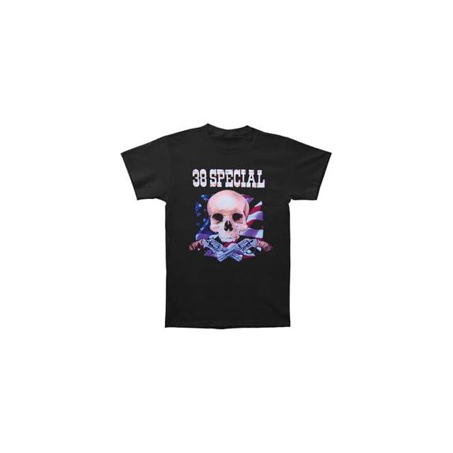 38 Special Mens Skull Flag Guns 07 Tour Tee T shirt Black