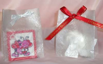 100 Wedding Favor Mini Doves Bag with White Ribbon