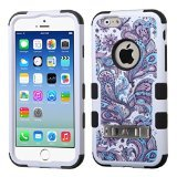 Product B00O29VOD2 - Product title MyBat Tuff Hybrid Protector Cover with Stand for iPhone 6 - Retail Packaging - Purple European Flowers/Black