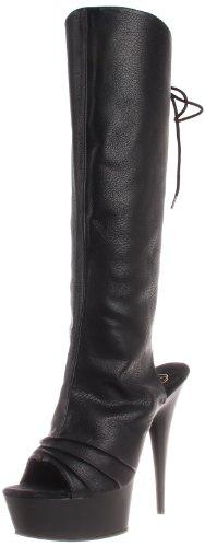 Pleaser Women's Delight-2018 Knee-High Boot,Black,8 M US (Deli Shoes compare prices)