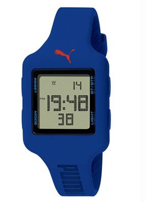 PUMA Women's PU910792005 Slide-S Deep Blue Digital Watch