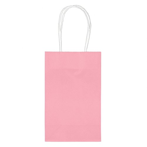 "Amscan Bright Birthday Party Cub Bag Value Pack, 8-1/2 x 5-1/4 x 3-1/2"", New Pink - 1"
