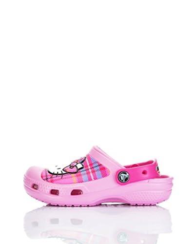 Crocs Sabot Cc H. Kitty Plaid Sabot Kids [Rosa]