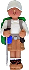 Male Hiker Hiking Personalized Christmas Ornament