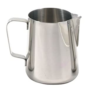 ChefLand Frothing Pitcher Espresso Coffee Milk Pitcher Stainless Steel, 12-Ounce from ChefLand