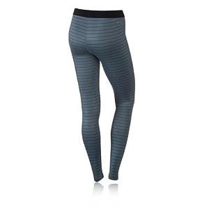 Women's Nike Pro Hyperwarm Stripe Training Tights Blue Graphite/Black 642632-494 (XS)