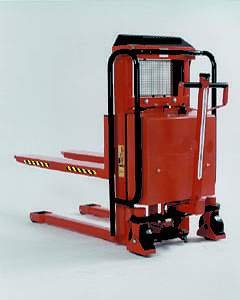 "Beacon Trans-Positioner Fork Over Design; Drive: Manual; Lift: Electric; Capacity: 3,000 Lbs.; Overall Height: 52-1/2""; Lift Height: 36""; Fork Width/Length: 22"" / 45""; Overall Width: 25""; Overall Length: 68""; Model# Btp-30-Me"