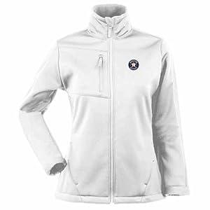 Houston Astros Ladies Traverse Jacket (White) by Antigua