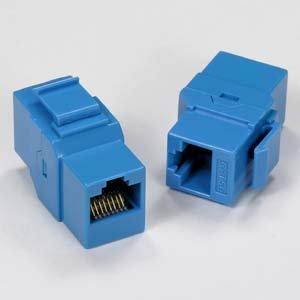 InstallerParts Cat 5E Inline Coupler w/Keystone Latch Blue