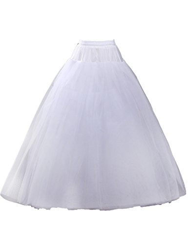 JAEDEN Floor Length Bridal Slips Wedding Petticoat Women's Tulle Underskirt