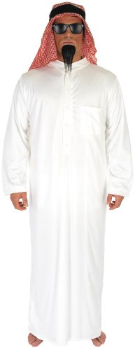 Mens Arab Oil Sheik Fancy Dress Costume Size 38/40 Medium