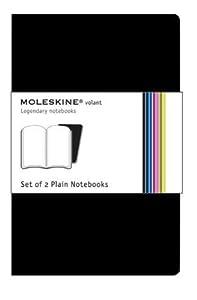 Volant-Notizbuch zum Nachfüllen, 2er-Set, grau