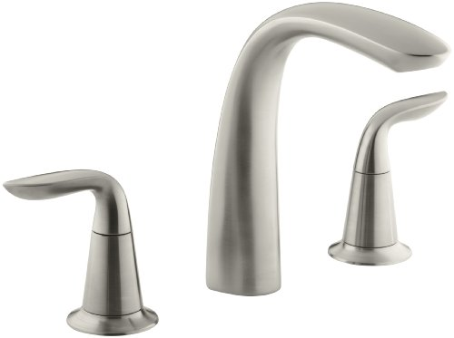 Kohler K-T5323-4-Bn Refinia Bath Faucet Trim, Valve Not Included, Vibrant Brushed Nickel front-627183