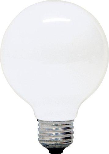 Ge 12979-6 G25 Incandescent Soft White Globe Light Bulb, 40-Watt, 6-Pack