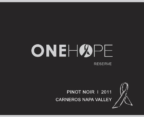 2011 Onehope Carneros Napa Valley Reserve Pinot Noir 750 Ml
