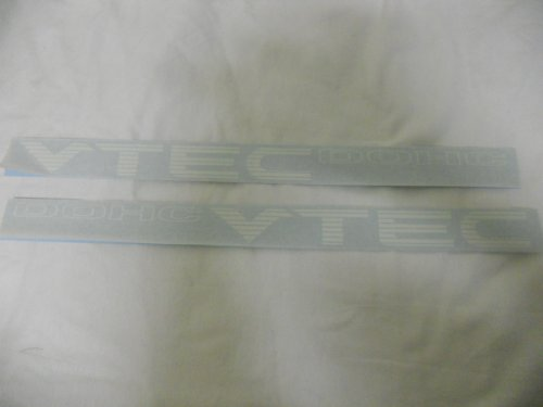 DOHC Vtec Racing Decal Sticker (New) white X2 (Vtec Dohc Emblem compare prices)
