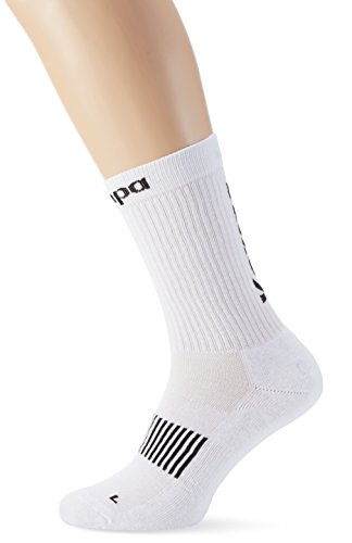 Kempa - Calze da uomo, Uomo, Logo Classic, bianco, FR : chaussettes : 43-46 (Taille Fabricant : 41-45)