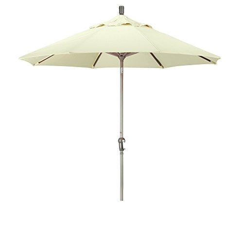 California Umbrella MARE908-F84 Round Crank Tilt Market Umbrella, 9', Champagne Sunbrella Natural Fabric