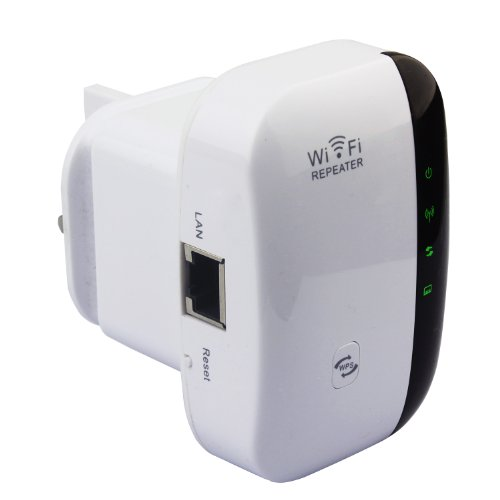 eSynic 300Mbps WPS Universal Wi-Fi Range Extender Support Full Funtion Mini Router/ Wireless Repeater/ Access Ponit AP Client/ Wifi Bridge