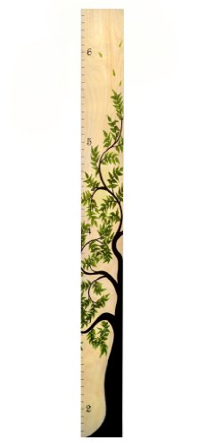 Tree of Life Wooden Height Growth Chart | Wall Hanging Wood Height Chart for Children, Kids, Boy & Girls