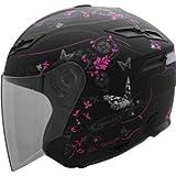GMax Women's GM67 Open Face Helmet - Medium/Pink Butterfly