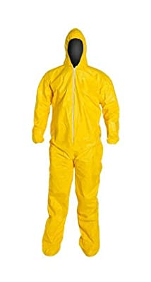 DuPont - Tychem Coverall with Hood and Socks - Size: Medium from DuPont - Tychem Coverall with Hood and Socks