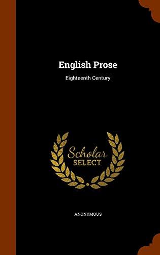 English Prose: Eighteenth Century