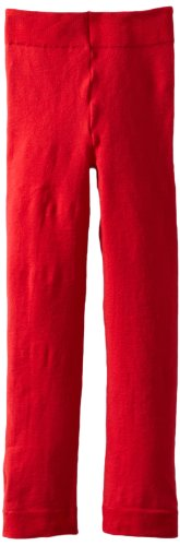Jeffries Socks Baby Girls Pima Cotton Footless Tights, Red, 18 24 Months