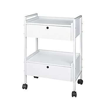 Cosmetic Beauty Trolley with 2 drawers