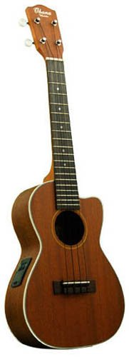 Ohana Electric Acoustic Concert Ukulele Solid Mahogany Top, 3 Band Eq, Ck-20Ce