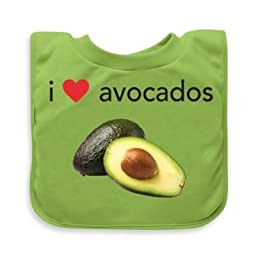 green sprouts\' by i play.\' Avocados Favorite Food Absorbent Bib