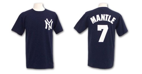 New York Yankees Mickey Mantle Cooperstown Player Name & Number T-Shirt