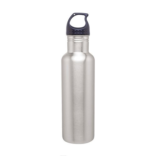 Stainless Steel Water Bottle Canteen - 24Oz. Capacity - Brushed Stainless front-790728
