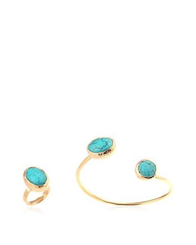 Handmade_Art Conjunto de brazalete y anillo