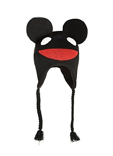 DEADMAU5 Mau5 Head Fleece Lined Black Knitted Laplander Hat/Cap (Deadmau5 Mouse Head compare prices)