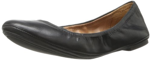 Lucky Women's Emmie Ballet Flat, Black/Leather, 8 M US