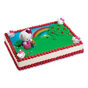 HELLO KITTY Cat Bubble Blower Birthday Party Cake Decoration Topper Kit Set (Bubble Blower For Parties compare prices)