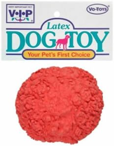 Vo-Toys Latex Flower Ball Medium Dog Toy Assorted Colors