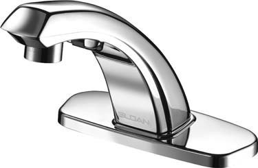 Speakman S-9211-CA-E SensorFlo AC-Powered Sensor Faucet with 4 in Deck Plate /& Under-Counter Mechanical Mixer Polished Chrome