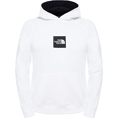 North Face M Fine Felpa con Cappuccio, Bianco/Tnf White, S