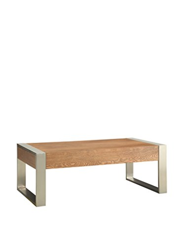 Coast to Coast Industrial 2-Drawer Cocktail Table, Natural