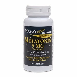 Mason Natural Melatonin, 5mg with Vitamin B-6, Tablets, 60 ea