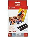 Canon 7739A001AH - Ink & Paper Set - Ink & Paper Set Credit Card Size 36 Prints for CP-100 CP-200 & CP-300