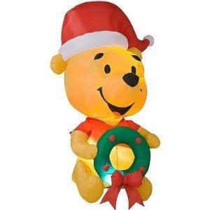 Gemmy Egg Noggin Disney Winnie the Pooh 6-Foot Inflatable Christmas Yard Decoration